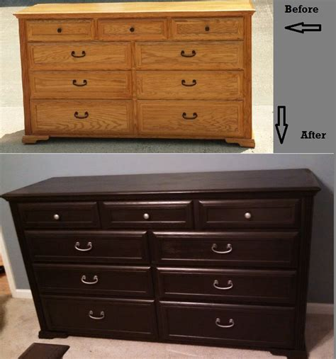 spray paint bedroom furniture dresser before and after using rustoleum furniture
