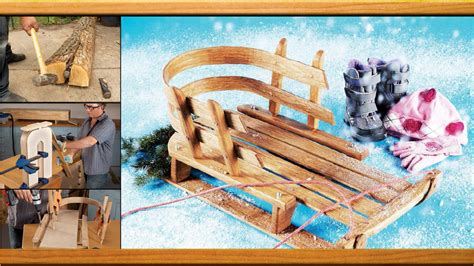 fashioned wooden sled plan woodworkers guild america