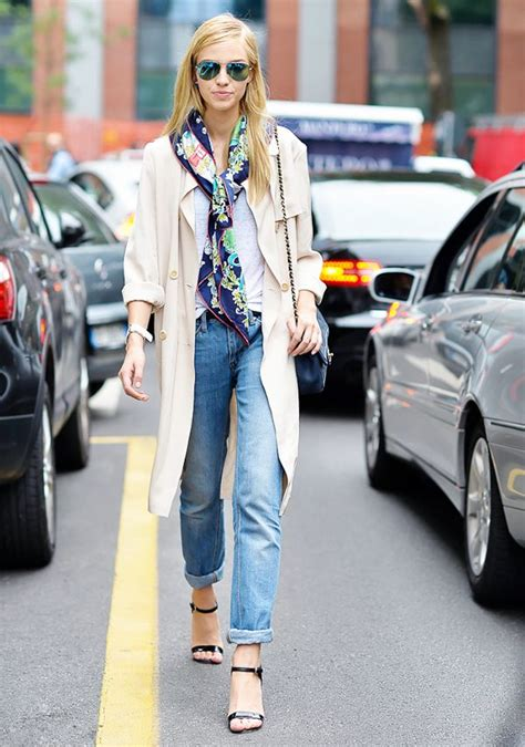 street style hair scarves 15 new ways to tie your scarf this fall whowhatwear