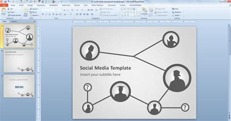 template powerpoint for network free social media template for powerpoint presentations