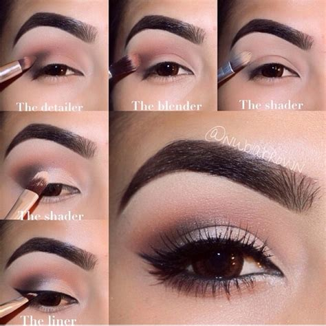 eyeliner tutorial with brush neutral smokey eye with correct brushes to use trusper