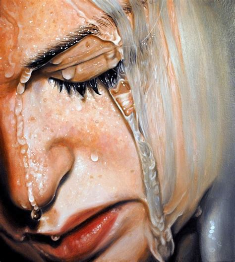people painting expressive photorealistic oil paintings of people in water