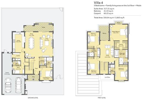 floor plan la la qunita floor plans villa dubailand