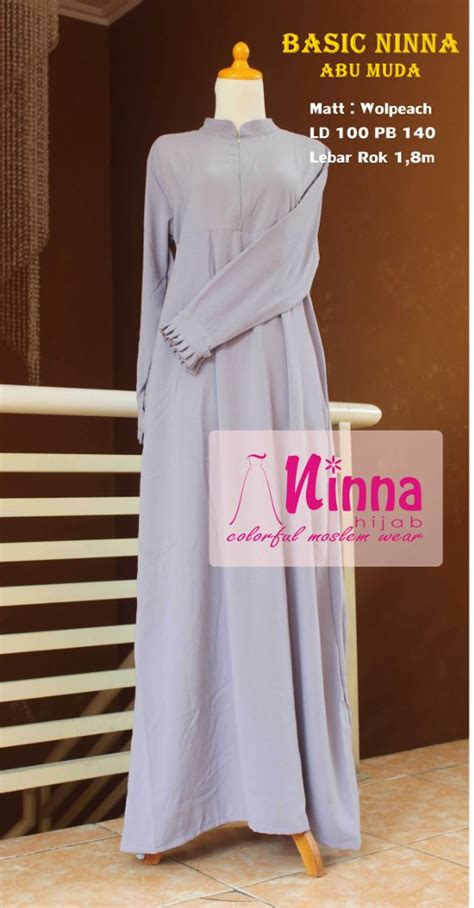 Gamis Wolfis Wolfice Wolpeach Grade A jual basic ninna gamis wolfis wolvis wolpeach
