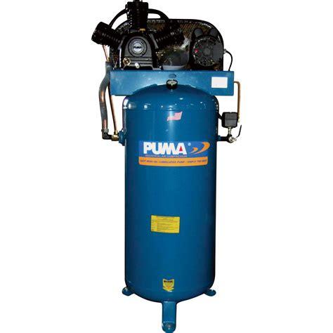 belt drive stationary vertical air compressor 60 gallon vertical 4 5 hp 17 cfm model