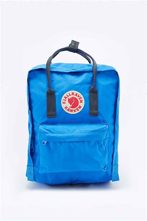 Fjallraven Kanken Classic Oxred Royal Blue Backpack Tas fjallraven kanken classic backpack in blue and navy in blue grey lyst