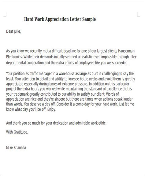 appreciation letter for work sle team appreciation letters kays makehauk co