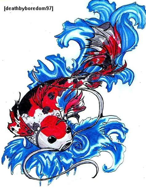 amazing design amazing colourful design of fish tattoo