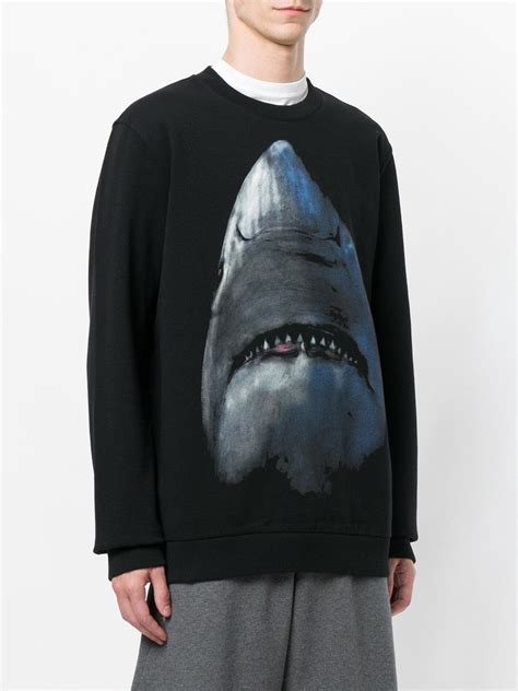 Kaos Givenchy Shark Black lyst givenchy shark print sweatshirt in black for