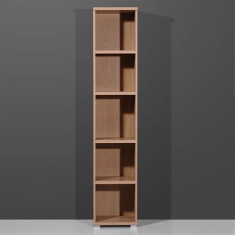 Narrow Shelf Unit by Vision Royal Walnut Narrow 5 Tier Shelving Unit 1093 31