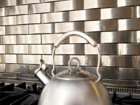kitchen backsplash stainless steel tiles metal tile backsplashes hgtv