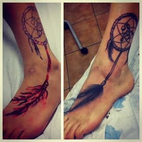 dream catcher tattoo on feet dream catcher symbol tattoo ideas and dream catcher symbol