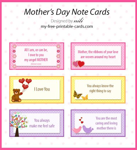 printable christmas cards for mommy free printable mother s day note cards my free printable