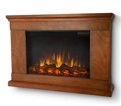 Slim Electric Fireplace Insert by 38 4 Quot Jackson Pecan Slim Electric Fireplace
