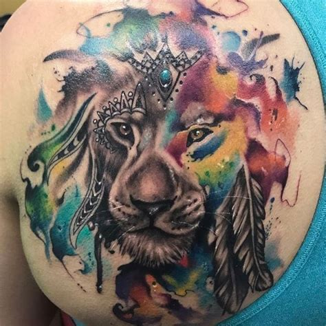 watercolor tattoo lion the 25 best watercolor ideas on