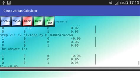 calculator gauss jordan gauss jordan calculator android apps on google play