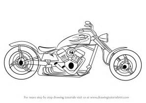 learn draw chopper wheelers step step drawing tutorials