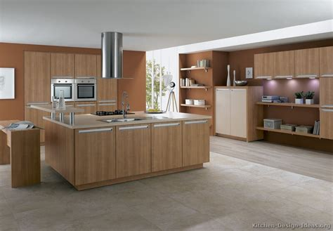 Modern Light Wood Kitchen Cabinets Pictures Design Ideas Modern Wood Kitchen Design