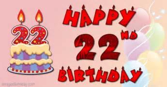 Happy 22th birthday cake ideas and designs