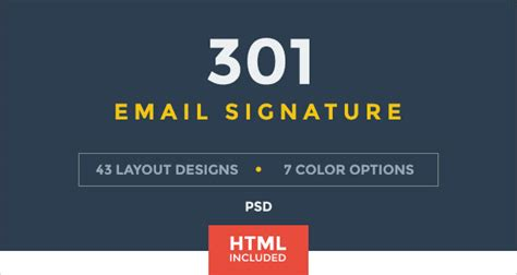 50 Best Professional Html Outlook Email Signature Designs Templates For Inspiration Html Email Signature Template