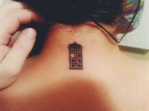 tiny tardis tattoo pairodicetattoos com