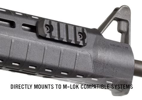 magpul rail sections magpul 5 slot m lok polymer rail section