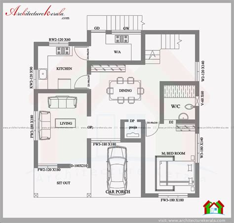 house plan for 35 by 50 plot size 195 square yards