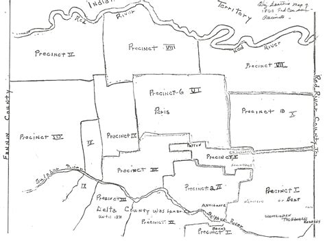 lamar county texas map map of lamar county showing precincts in 1860