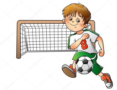 dibujos de niños jugando soccer ni 241 o jugando al f 250 tbol aislado sobre fondo blanco