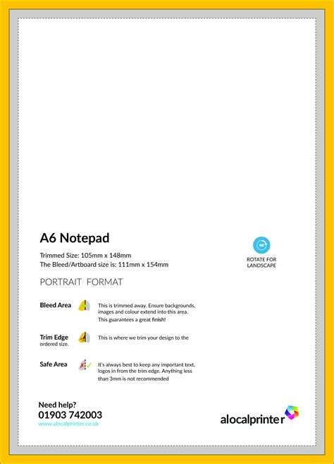 A6 Note Card Template by Product Templates