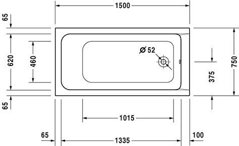 baignoire duravit d code baignoire rectangulaire 150x75 cm acrylique d code