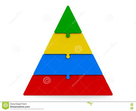 color pyramid four color puzzle pyramid stock illustration illustration