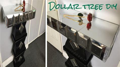 dollar tree desk l dollar tree diy mirrored side table so glamorous youtube
