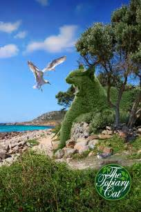 topiary cat topiary cats created by surreal artist takes the