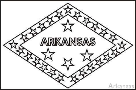 arkansas state map coloring page coloring pages