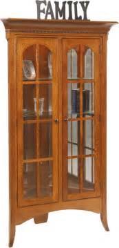 Amish Corner Curio Cabinet Amish Bunker Hill Corner Curio Cabinet