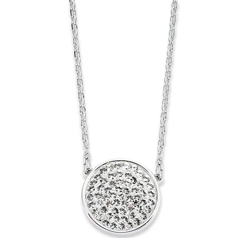 Earrings Curved Swarovski Ab Silver Rhodium swarovski rhodiumplated top pave pendant necklace in metallic lyst