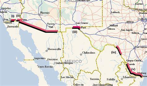 wall between us and mexico map debate border fence debate org