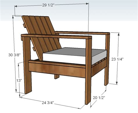 Patio Chair Plans White Simple Outdoor Lounge Chair Diy Projects