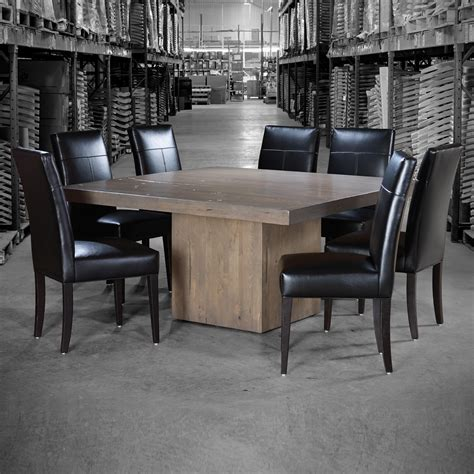 Canadel Kitchen Table Canadel Loft Custom Dining Customizable Square Table With Block Pedestal Becker Furniture