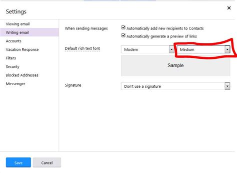 change email format yahoo mail how to change the default font size of my emails on yahoo