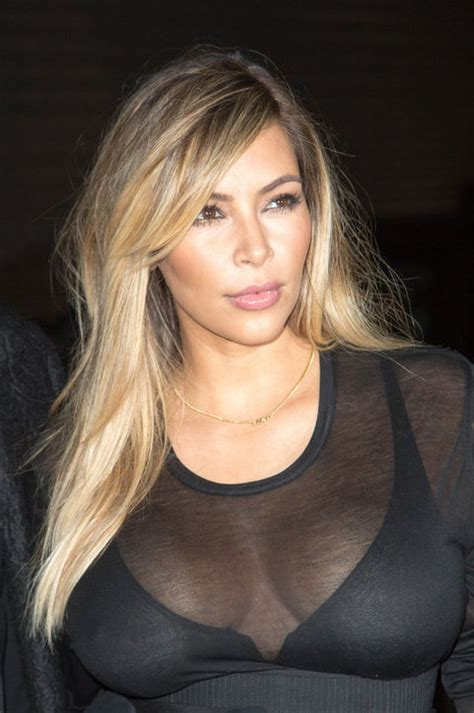 keeping up with the kardashians kim blonde is full time image kim kardashian blond hair color paris fashion week
