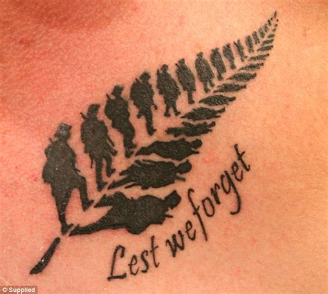 veteran tattoos kiwi war veteran s anzac has become a social media