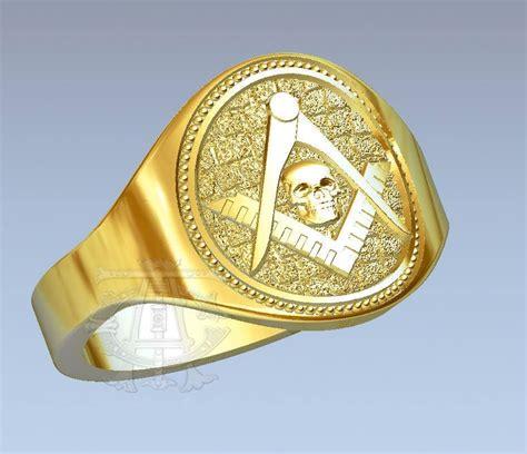 remember thy creator gold masonic ring