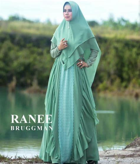 Gamis Syari Baju Muslimah Hijau 189 Aliyah Syar I By Ranee Bruggman Baju Gamis Syari Bahan