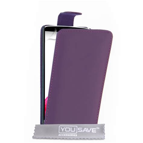 Leather Flip Lg G3 yousave accessories lg g3 leather effect flip purple