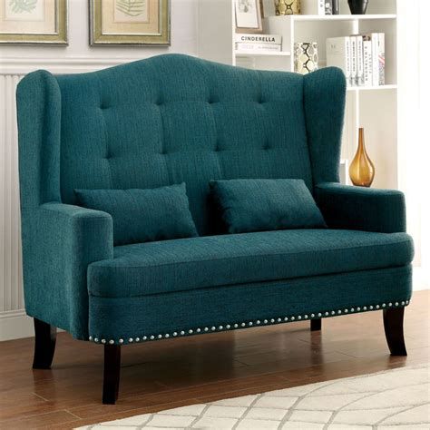turquoise loveseat slipcover teal lakewood wingback loveseat chair everything turquoise