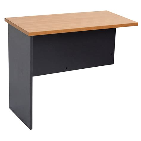 metal office desk with return epic span desk and return with metal modesty mcdowell