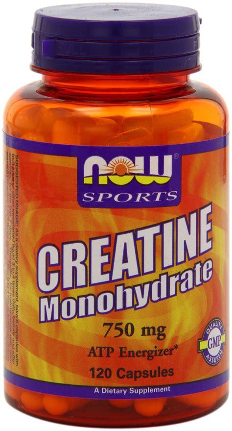 creatine 750mg now foods creatine monohydrate 750mg capsules 120 count ebay