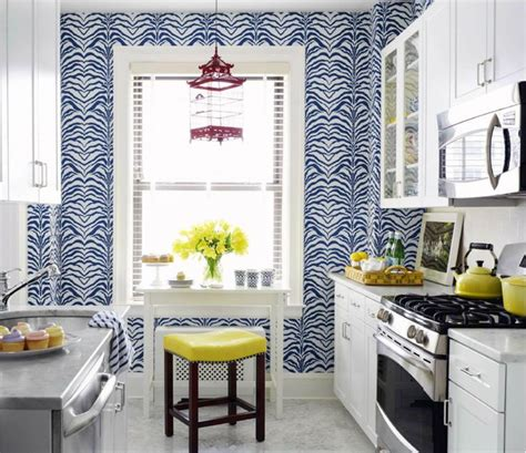 eclectic style kitchen  great cobalt blue  white